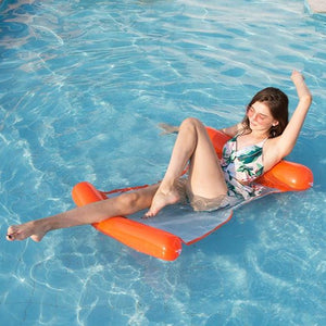 Red Swimming floating bed water inflatable recliner Water Hammock