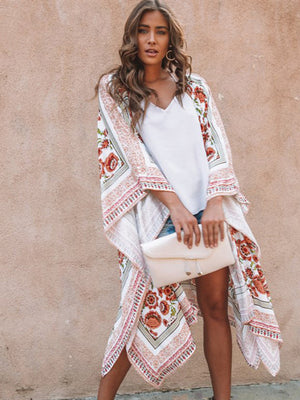 Printed Loose Boho Beach Kimonos