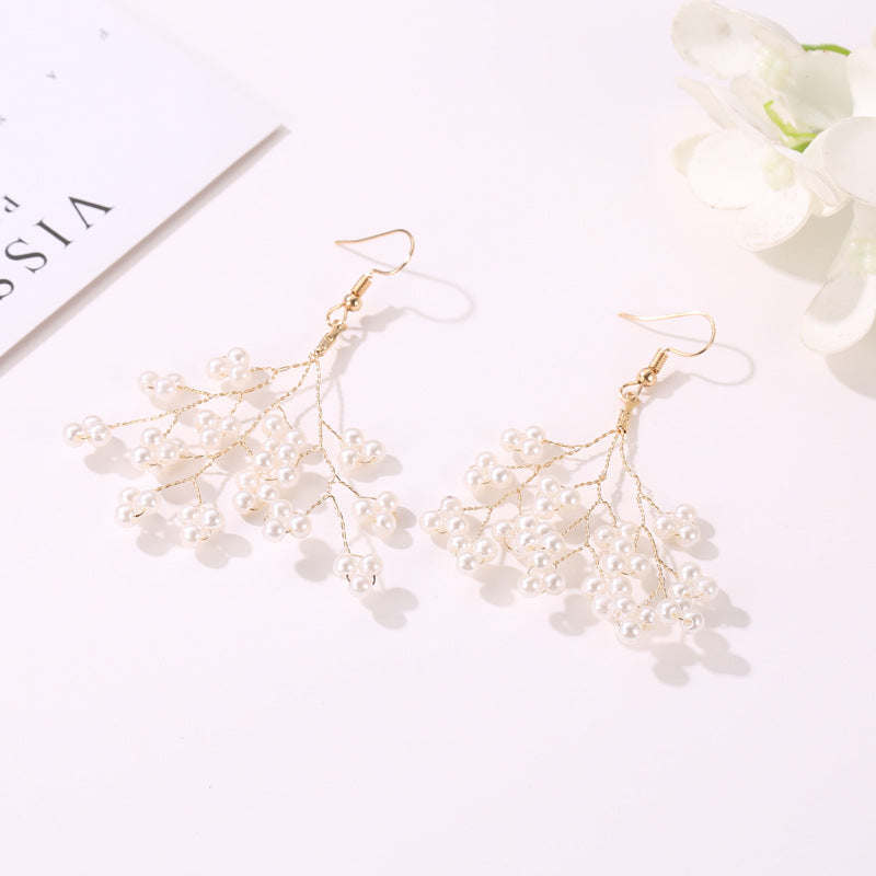Pearl Fairy Long Earring Female Earring Studs
