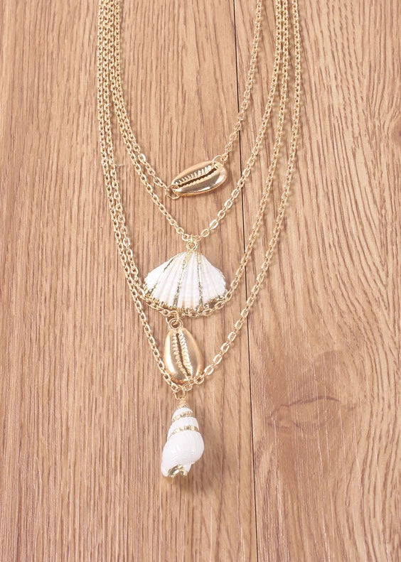 Bohemian Shell Conch Multi-layer Clavicle Chain Necklace