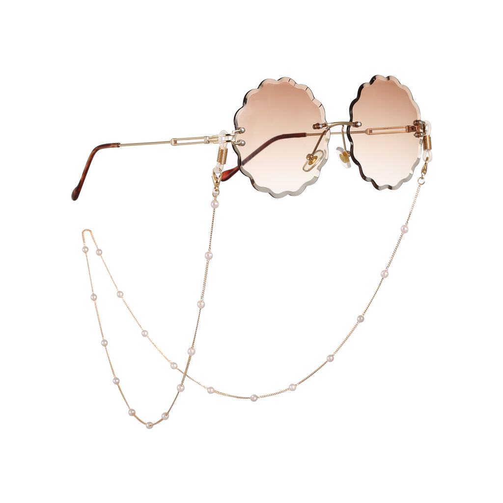 Fashionable Simple Pearl Glasses Chain