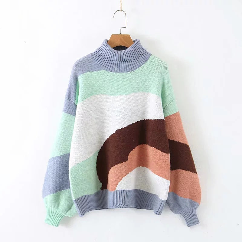 Vintage Languid Striped Ins Hot Sweater
