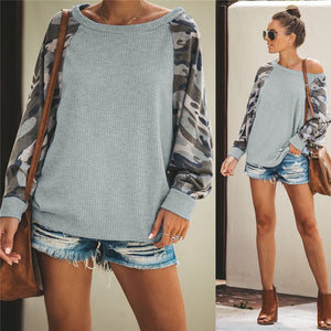 Casual Long-sleeve Camouflage Sweatshirt