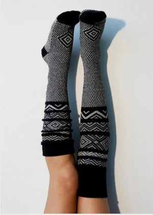 Knitted Mid-Knee Stockings