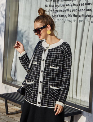 Fashion Striped Knit Cardigans Outerwear