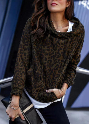 Leopard Pocket Women's Hooded