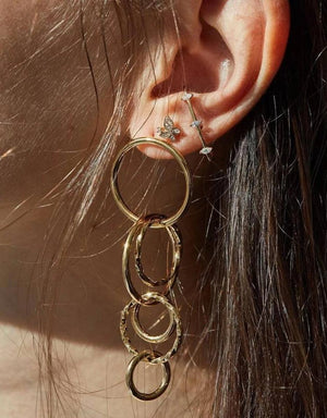 Simple Personality Serial Circle Exaggerated Earrings