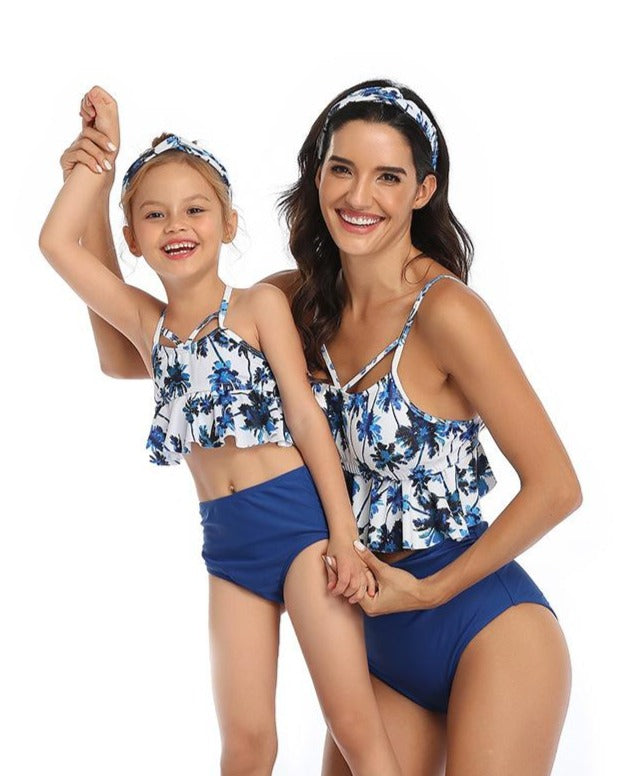 Printed Swimsuit Parent-child swimwear