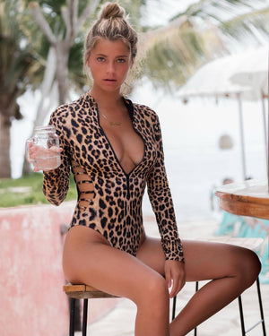 Leopard & Snake Print One-piece Swimwear