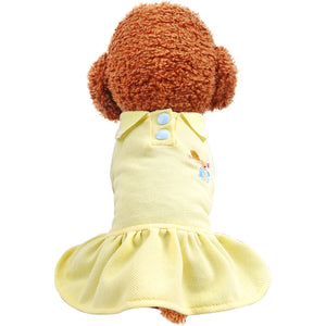 Teddy bear Pomeranian puppies spring casual polo shirt cat pet dress