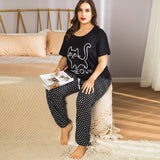 Summer animal cotton short-sleeved trousers set