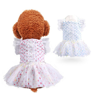 Breathable Gauze Princess Dot Pet Skirt