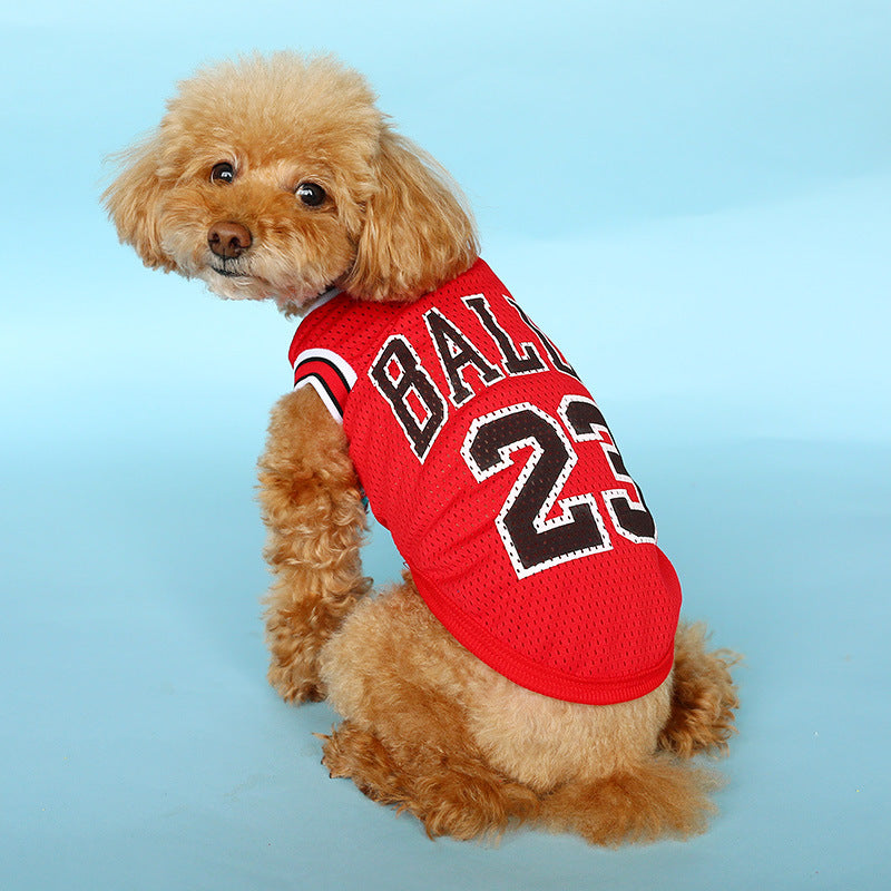 Dog&Cats Bear Red/Black Breathable Basketball Uniforms