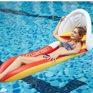 Red Shed Shade Floating Outdoor Water Bed Water Hammock