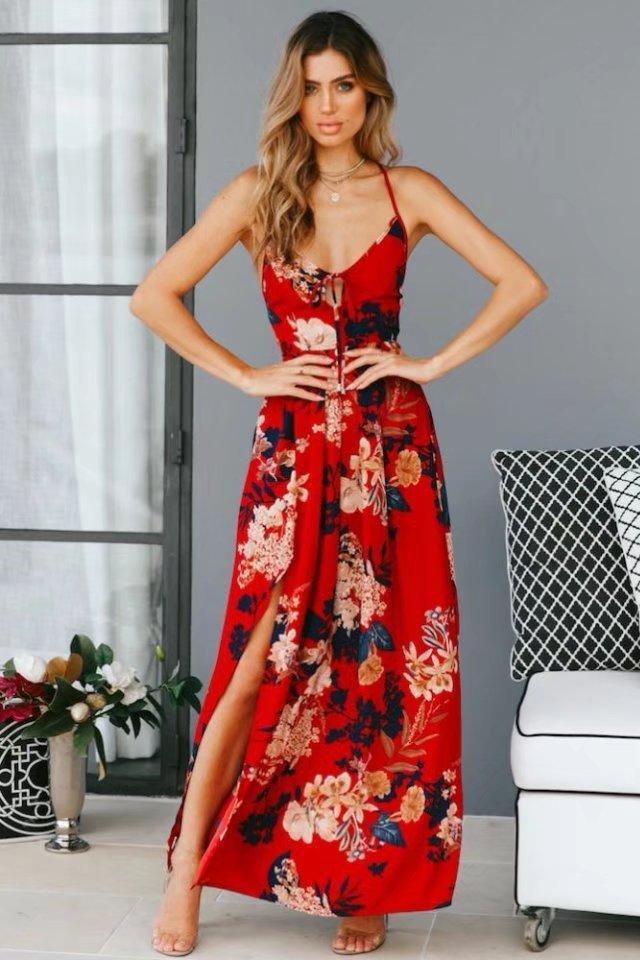 BOHO Floral Bloom Maxi Dress