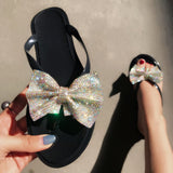 Bow Color Diamond Slippers-3color