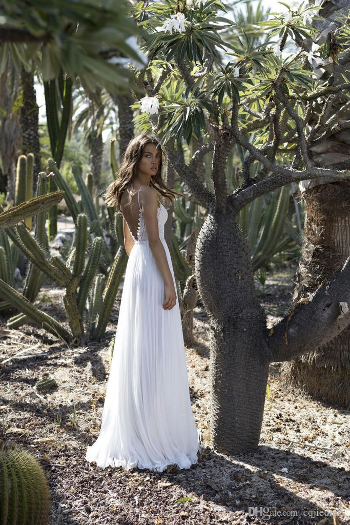 Bohemian White Backless Lace Dress