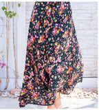 Sling High Waist Boho Floral Printed Maxi Dress