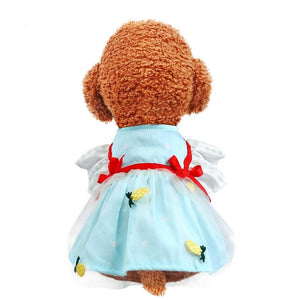 Dog Cat Princess Ribbon Bow Yarn Skirt