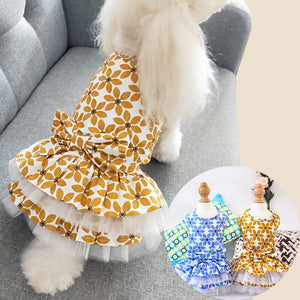 Cotton dog skirt summer teddy bear small dog princess pettiskirt