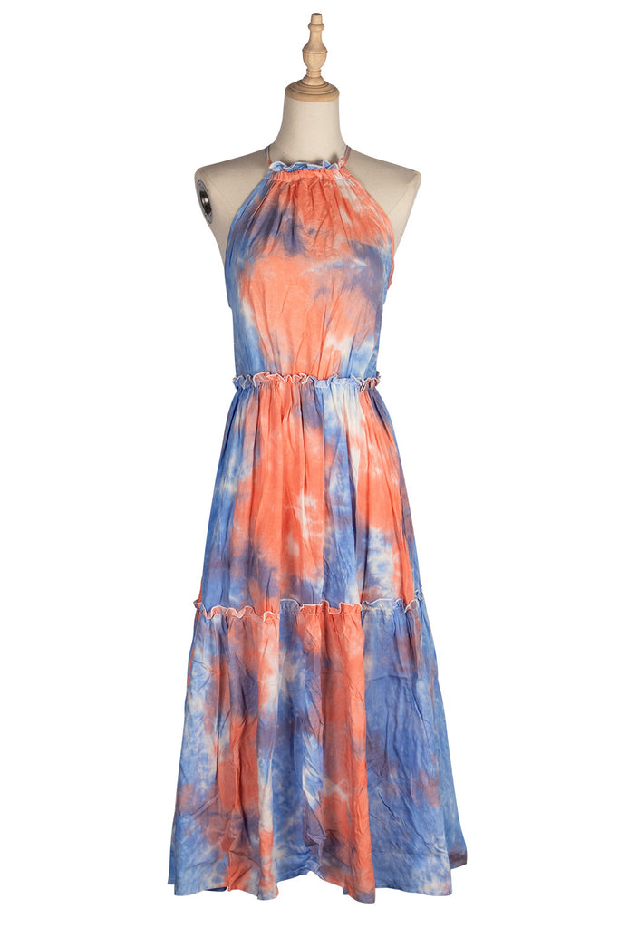 Sexy Bandage Strapless Bow Tie Dyed Dress