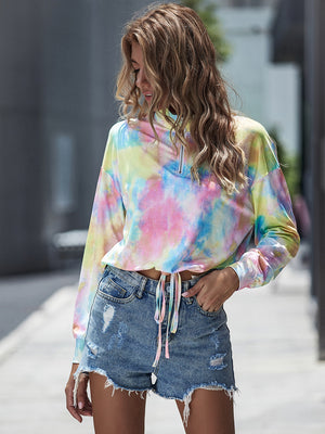 Fashion Casual Loose Straps long sleeve T-shirt