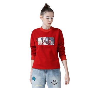 Women Sweatshirt Round Neck Long Sleeve Tracksuit Top