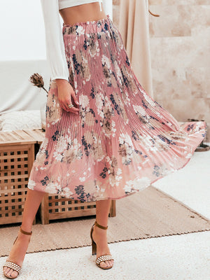 Elegant Ruffled High Waist Chiffon Skirt