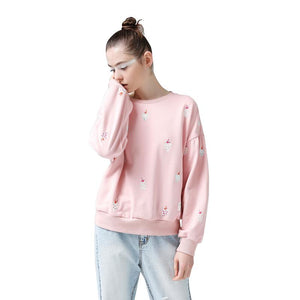 Women Printed Sweatshirt Casual Long Sleeve Pullover Tracksuits