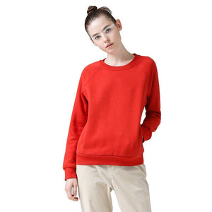 Women O-Neck Long Sleeve Casual Pullovers Sweatshirts Tops