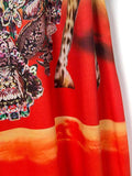 Women boho Off Shoulder Floral Maxi Plus Size dress Bottom