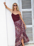 Women Summer Boho long Skirt Bohemian Beach Bottom