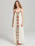 Bohemia Flower Spaghetti-neck Beach Long Dress
