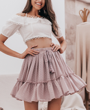 Ruffled garden boho skirt