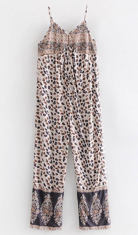 Cotton Leopard Print Rompers