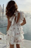 Elegant Lace Floral Mini Dress