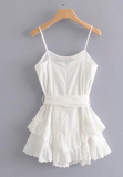 Cotton Strappy Bow Dress