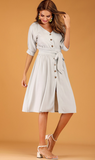 Summer Button Tie Dress