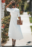 Summer Cotton Thin Daily Dress