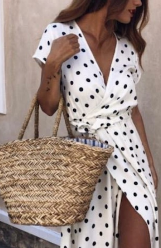 White Polka Dot Holiday Dress