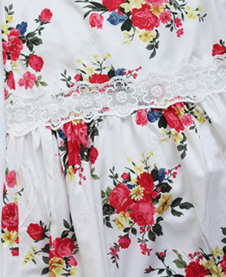 White Lace Floral Holiday Dress