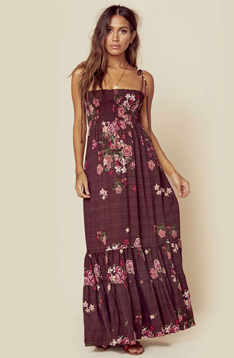 Beach Sling Bohemian Floral Dress -2color