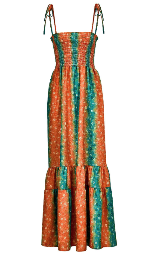 Holiday Sling Bohemian Maxi Dress -3color