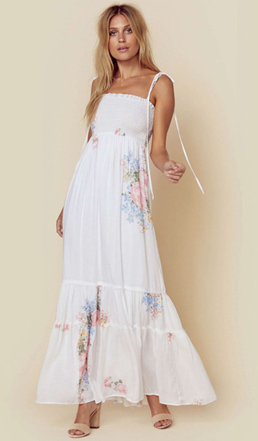 Bohemian Floral Strap Dress-3color