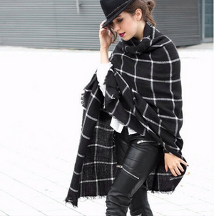 Fashion Plaid Scarf-2color