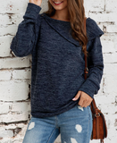 Fashion Button Irregular Woman's Sweater-2color