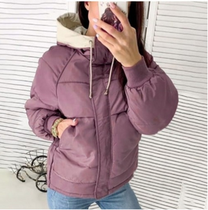 Short Hooded Warm Women's Down Jacket-8color