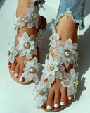 White slip-on Sandals