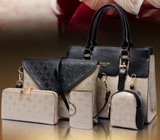 Embossed women's bags (6 pieces)