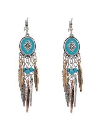 Turquoise Fashion Dream catcher earrings Chain Fringe Jewelry,